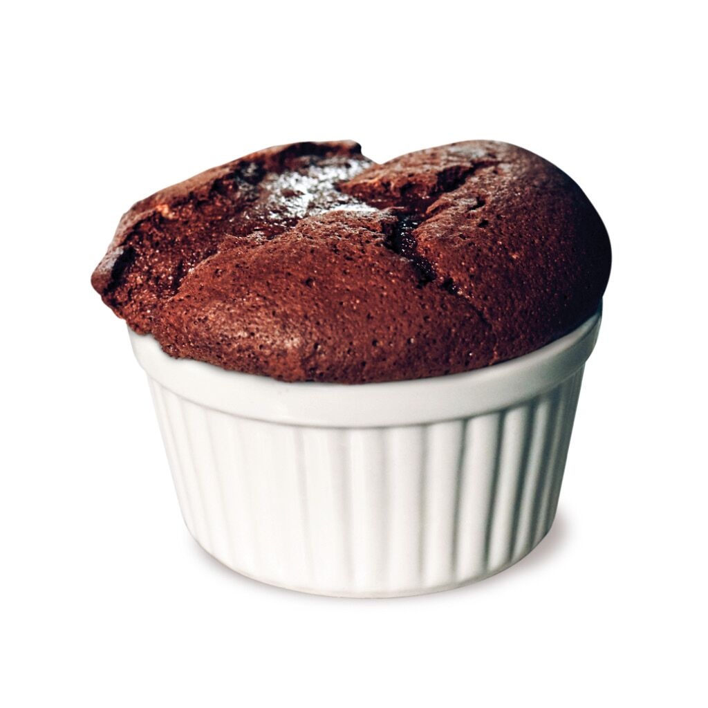 Plant-based Salted Chocolate Soufflé