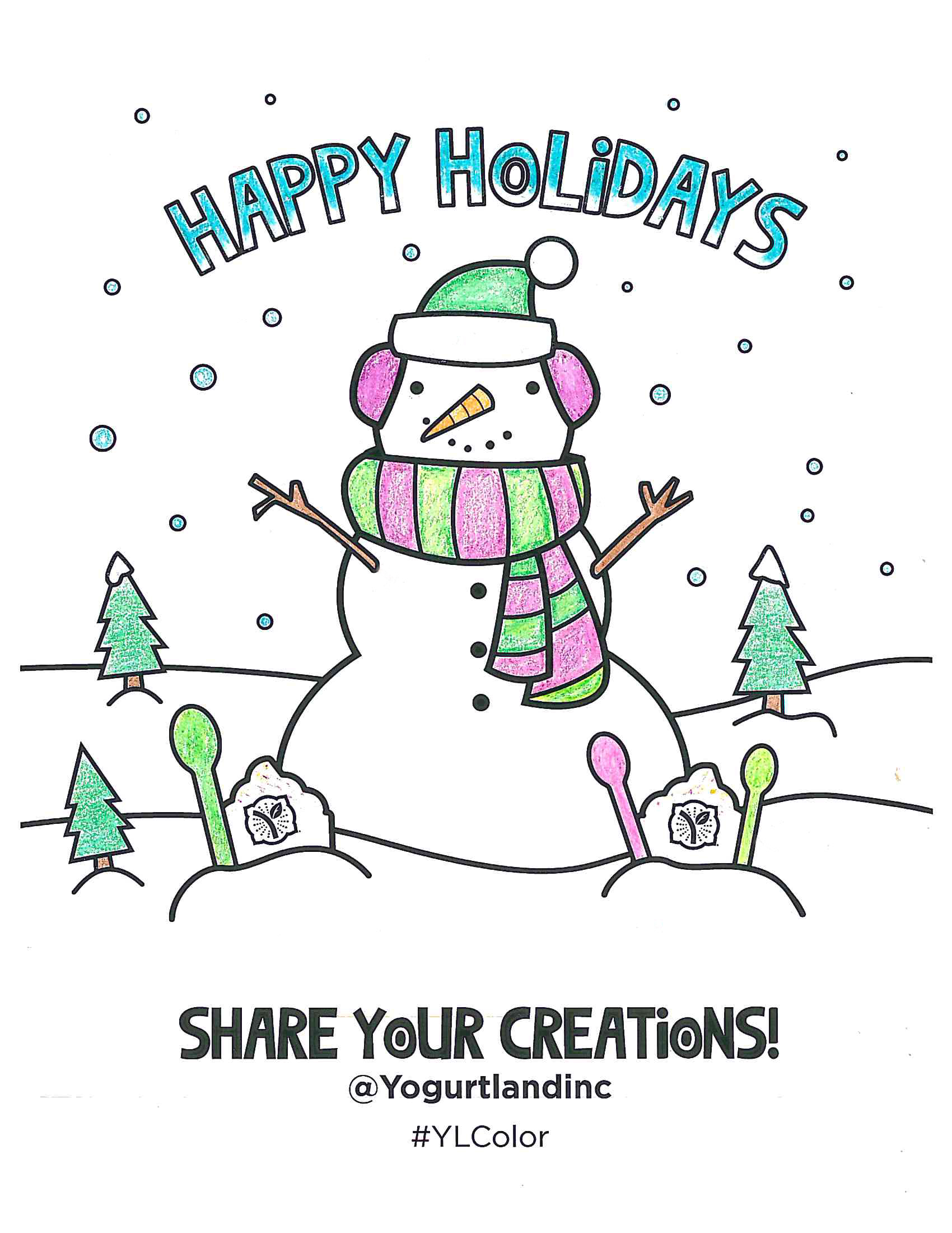 Celebrate The Holiday Season With Our Free Downloadable Coloring Page Bring Your Winter Wonderland To Life As You Gather Friends And Family Or