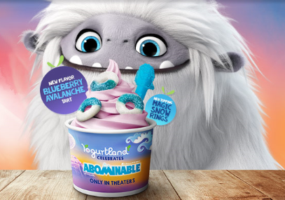 Make it a Double Date with Yogurtland and DreamWorks Abominable