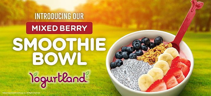Yogurtland Adds a Wholesome Boost to Their Menu with the Launch of the Mixed Berry Smoothie Bowl