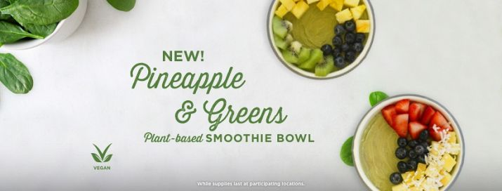 Yogurtland Debuts Healthier Option with the Introduction of Pineapple & Greens Smoothie Bowl